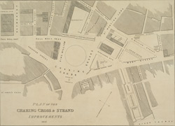 Plan of the Charing Cross & Strand